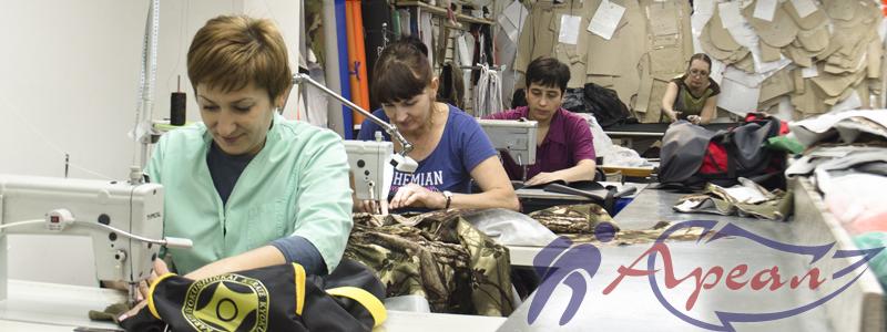 Швейное производство, швеи в цеху