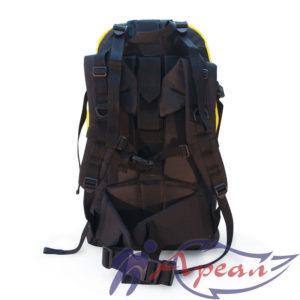 Регулируемые по высоте лямки, широкий пояс и система стяжек рюкзака Круиз