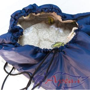 Спальный мешок с подголовником утягивающийся в капюшон от компании Ареал плюс